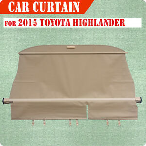 For 15 18 Toyota Highlander Cargo Cover Retractable Beg Rear Truck Luggage Shade