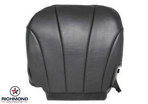 1999 2002 Chevy Silverado Work Truck Flatbed Driver Bottom Vinyl Seat Cover Gray