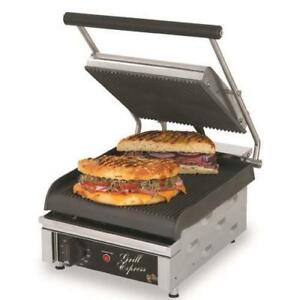 Star Gx10ig Grill Express 10 In Grooved Sandwich Grill