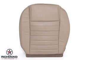 05 09 Ford Mustang Driver Bottom Perforated Replacement Leather Seat Cover Tan