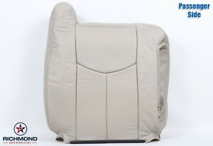 2003 2004 Chevy Tahoe Lt Ls Z71 passenger Side Lean Back Leather Seat Cover Tan