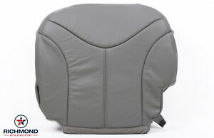 1999 2002 Gmc Sierra 1500 2500hd Slt Driver Side Bottom Leather Seat Cover Gray