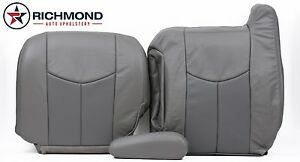 03 06 Gmc Yukon Denali Driver Bottom Lean Back Armrest Leather Seat Covers Gray