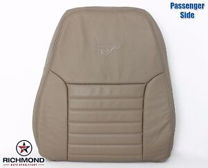 1999 2000 Ford Mustang Gt V8 Passenger Side Lean Back Leather Seat Cover Tan