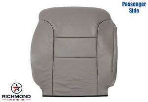1998 1999 Chevy Tahoe Lt Ls passenger Side Lean Back Leather Seat Cover Gray