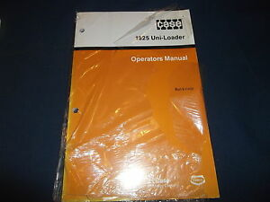Case 1825 Uni loader Skid Steer Operator Operation Maintenance Book Manual New
