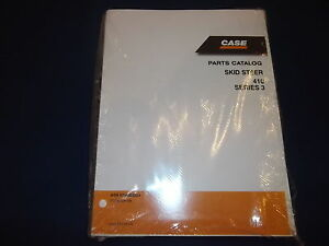 Case 410 Series 3 Skid Steer Loader Parts Book Manual New