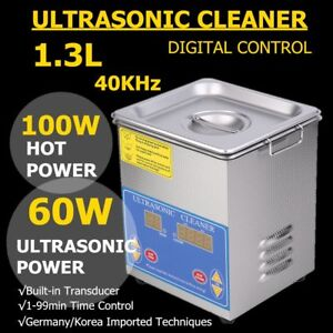 Stainless Steel 1 3l Ultrasonic Cleaner Liter Industry Heated W timer Jewelry Ek