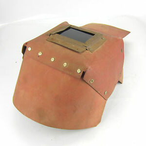 Vintage Welding Mask Shield Hood Helmet Cardboard Great Decoration Steampunk 64