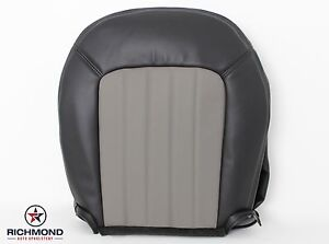 2005 Mercury Mountaineer Premier driver Bottom Leather Seat Cover 2 tone Gray