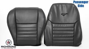 2001 Ford Mustang Gt V8 passenger Complete Perforated Leather Seat Covers Black