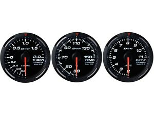 Defi White Racer 52mm 3 Gauges Set turbo Boost oil Temperature egt