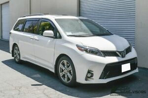 Eos Visors For 11 Up Toyota Sienna Jdm In Channel Side Window Guard Deflectors