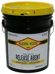 Kleen Kote Water Based Industrial Concrete Release Anti Corrosion Concentrate