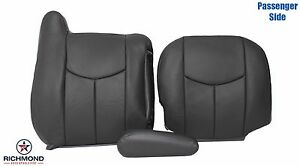 2003 2004 2005 Chevy Silverado passenger Complete Leather Seat Covers Dark Gray