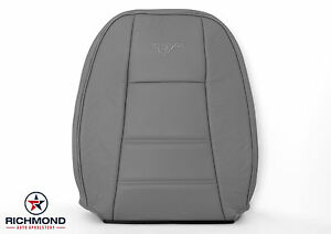 2002 2003 2004 Ford Mustang V6 Driver Side Lean Back Leather Seat Cover Gray
