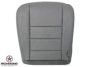 2003 Ford Excursion 7 3l Turbo Diesel Driver Side Bottom Leather Seat Cover Gray