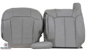 2000 Chevy Silverado Driver Side Complete Replacement Leather Seat Covers Gray