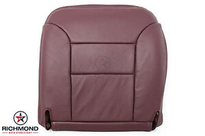 95 99 Chevy Suburban driver Side Bottom Leather Seat Cover Burgundy Maroon Red