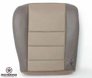 03 04 Ford Excursion Eddie Bauer Driver Side Bottom Leather Seat Cover 2 Tone