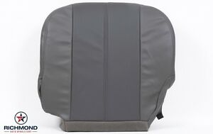 01 Gmc Yukon Denali Xl Driver Bottom Replacement Leather Seat Cover 2 Tone Gray