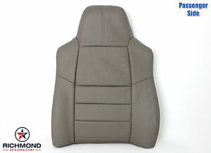 2008 2010 Ford F250 F350 Lariat passenger Side Lean Back Leather Seat Cover Gray