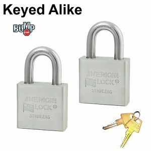 Master american Padlock 2 High Security Locks Solid Stainless Steel a6460nka