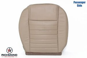 2005 2009 Ford Mustang passenger Side Bottom Replacement Leather Seat Cover Tan