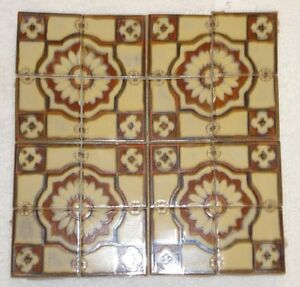Vtg Ceramic Tile 12 X12 Wall Table Top Backslpash Fireplace Craft New