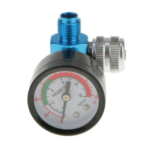 Spray Gun Air Regulator Gauge Paint Adjustable Dial 1 4 Hvlp Compressor
