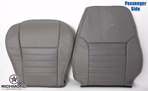 2002 Ford Mustang Gt V8 passenger Complete Perforated Leather Seat Covers Gray