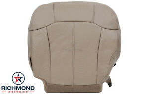 2001 2002 Chevy Silverado 3500 Lt Driver Side Bottom Leather Seat Cover Tan