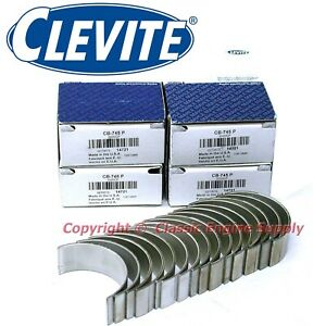 New Clevite Standard Size Rod Bearing Set 327 283 265 302 Sb Chevy Small Journal