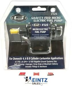 Mr Gasket 12s Electric Fuel Pump micro 4 Psi 7 Psi 35 Gph Gasoline