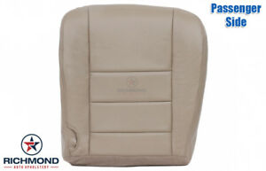 2002 Ford Excursion 7 3l Diesel Passenger Side Bottom Leather Seat Cover Tan