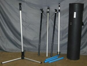 Lot Of 5 Duo Display Trade Show Assorted Foldable Stands Case