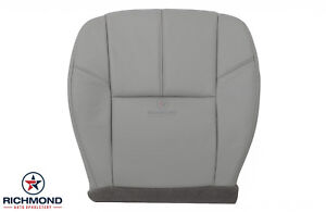 2010 2011 Gmc Sierra 1500 2500 Slt Hd driver Side Bottom Leather Seat Cover Gray