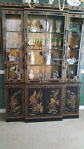 Vintage Drexel China Display Chinoiserie Cabinet