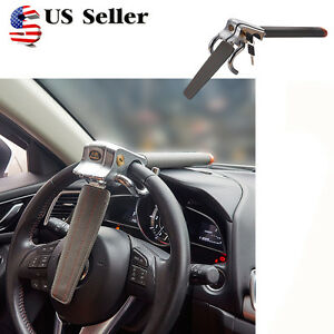 Car Steering Wheel Anti Theft Three Direction Security Lock With Safety Hammer