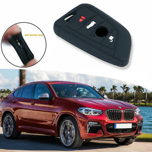 For Bmw F48 X1 X5 Blcak Knife Shape Soft Silicone 4 Buttons Smart Key Full Cover