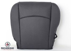 2010 2012 Dodge Ram 2500 Sport driver Side Bottom Leather Seat Cover Dark Gray