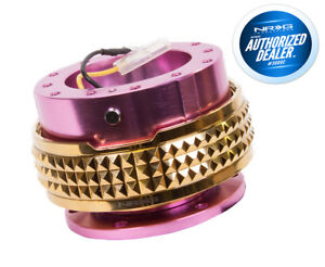 Nrg Steering Wheel Quick Release Gen 2 1 Pink Body Gold Pyramid Srk 210pk cg