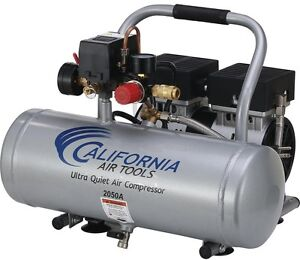 Portable Air Compressor Aluminum Tank 1 Hp Oil free Pump Quiet 2 0 Gal