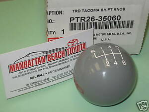 2005 2015 Tacoma Trd Shift Knob 6 speed Manual Trans Genuine Toyota Accessory