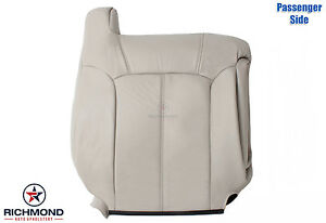 2002 Chevy Tahoe Z71 Passenger Side Lean Back Replacement Leather Seat Cover Tan
