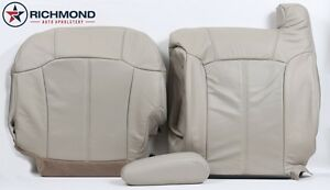 2002 Cadillac Escalade Driver Side Complete Perforated Leather Seat Covers Tan