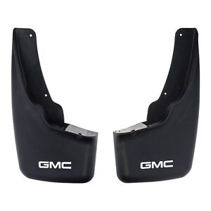 Oem New Front Molded Splash Guard Mud Flaps W gmc Logo 99 07 Sierra 12498061