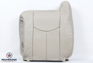 03 06 Chevy Tahoe Suburban Lt Z71 driver Side Lean Back Leather Seat Cover Tan