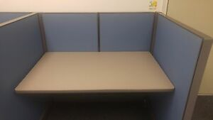 Herman Miller Action Office System Call Center Cubicles Set Of 4