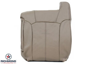 2000 Chevy Silverado 1500 2500 Lt Ls driver Lean Back Leather Seat Cover Tan